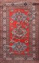 CHIRVAN (Russie) fond brique orangé à décor géométrique Vers 1960 164 x 103 cm