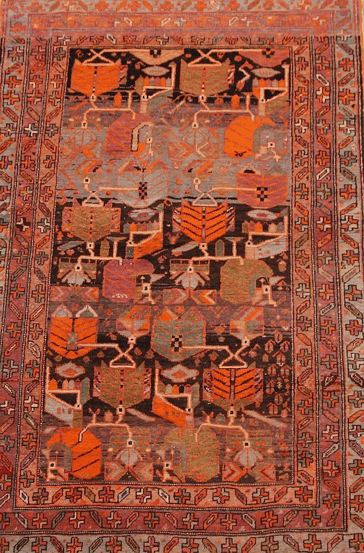 Original LORI (Iran) à décor géométrique Vers 1940 197 x 120 cm