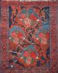 Original SENNEH (nordouest de la Perse) décor européen rappelant la Savonnerie française Milieu XXème siècle 150 x 115 cm
