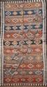 Ancien KILIM-QUASGAÏ (Iran) à sabliers géométriquement stylisés Milieu XXème siècle 325 x 144 cm