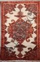 Ancien et fin MELAYER (Perse) fond ivoire à tortue centrale Début XXème siècle 195 x 133 cm (belle polychromie, petites tâches)