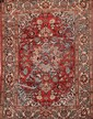 Fin ISPAHAN-NADJAFABAD (Iran) fond vieux rose à rosace centrale fleurie Vers 1950/60 195 x140 cm