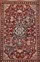 MAHAL-SAROUK (Iran) sur fond cerise à décor floral Vers 1965 200 x 127 cm