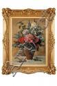 Julien DELVIGNE (1879-1947) Bouquet de fleurs dans un vase Toile marouflée sur carton 61 x 46 cm Signé en bas à gauche Delvigne