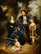 Charles Barthélémy Jean DURUPT (1804-1838) Portrait de la famille Bastard Toile Signé et daté 1832 en bas à gauche 116 x 90 cm