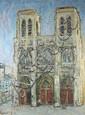 Jean VINAY (1907-1978) Notre Dame de Paris Huile sur toile sbg datée 65 82 x 61 cm