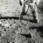Nasa Apollo 12, Richard Gordon, marche sur la Lune, tirage argentique, Circa 1969