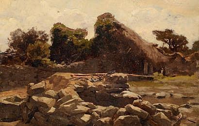 François MAURY (1861-1933) Rivière en sous-bois
