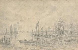 Auguste Paul Charles ANASTASI (1820-1889) Pêche en