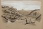 François Richard DE MONTHOLON (1856-1940) Vallon de Couedic à Saint Brieuc Plume, lavis et gouache Situé en bas à gauche 16 x 21 cm (6,3 x 8,3 in.) Au dos : Etiquette de la vente d'atelier Bibliographie : L. TREBUCHET, les étapes d'un touriste en