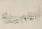 François Richard DE MONTHOLON (1856-1940) Les bords de Seine à Andresy Crayon 16 x 23 cm (6,3 x 9 in.)  Au dos : Etiquette de la vente d'atelier   Bibliographie : Alexis Martin, Promenades dans les environs de Paris Ouest, p,448 (reproduit)  Pencil