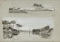 François Richard DE MONTHOLON (1856-1940) Les Iles de Bouedic et Conleau, dans le Golfe du Morbihan Plume, lavis et gouache Situé en bas à droite 16 x 21 cm (6,3 x 8,3 in.) Au dos : Etiquette de la vente d'atelier Ink, wash and gouache Located lower