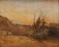 Auguste RAVIER (1814-1895) Forêt au crépuscule Aquarelle et crayon Signé en bas à droite 23,3 x 28,4 cm (à vue) (9 x 11,2 in.)  Watercolour and pencil Signed lower right