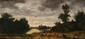 Gabriel-Gervais CHARDIN (1814-1907) Scènes pastorales Paire d'huiles sur panneaux  Signées en bas à droite et en bas à gauche 16,5 x 32,5 cm et 15 x 32 cm (6,5 x 12,8 in. and 5,9 x 12,6 in.)  Pair of oils on panels Signed lower right and lower left