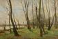 Pierre Emmanuel DAMOYE (1847-1916) Paysage de bord d'étang Sur sa toile d'origine Signée et datée 1906 en bas à droite 50 x 73 cm (19,7 x 28,7 in.)  Oil on canvas Signed and dated 1906 lower right