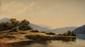 Eugène Antoine S. LAVIEILLE (1820-1889)  Paysage fluvial Huile sur toile  Signée en bas à gauche 28 x 46 cm (11 x 18,1 in.)  Oil on canvas Signed lower left