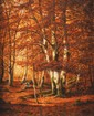 Adrien SCHULZ (1851 - 1931) Plateau de la mare aux fées en novembre Sur sa toile d'origine Signée en bas à droite Titrée au dos 60,5 x 49,5 cm (23,8 x 19,5 in.)  On its original canvas Signed lower right Titled on the back