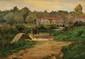 Ernest G. MARCHÉ (1864-1932)  Les Bords du Loing à Souppes, le Moulin de Beaumoulin Huile sur panneau Signée en bas à droite 24 x 33 cm (9,4 x 12,9 in.)  Oil on panel Signed lower right