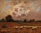 Paul CHAIGNEAU (1879-1938)  Moutons aux pâturages Huile sur toile Signée en bas à gauche 33 x 41 cm (13 x 16,1 in.)  Oil on canvas Signed lower left