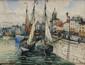 FRANK-WILL (1900-1951) Le Port de la Rochelle Aquarelle, lavis, gouache et crayon Signé en bas à droite Situé et daté 1928 en bas à gauche 49,5 x 65 cm (19,4 x 25,5 in.) Watercolour, wash, gouache and pencil Signed lower right Located and dated 1928