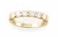 DEMI ALLIANCE en or jaune ornée de diamants de taille brillant. Poids brut : 4,2 g TDD : 53  A diamond and yellow gold ring