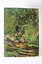 Jules Bertrand GÉLIBERT (1834-1916) Forêt landaise et Parterre de bruyère Huile sur carton fort et huile sur papier marouflé sur carton Signé en bas à droite et signé en bas à gauche 32,5 x 24 cm et 22,5 x 30 cm Provenance : Descendance directe de