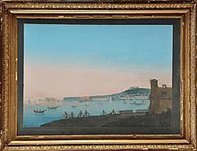 Ecole Napolitaine du XIXème siècle Vues de Naples :