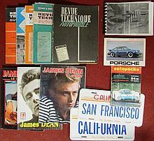 Lot de 5 revues techniques ; 3 livres James Dean ; autopoche 24 heures du mans ; Toute l'histoire Porsche, EPA ; Manuel 911 S.
