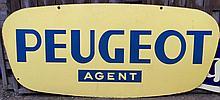 Plaque émaillée « Peugeot Agent ».