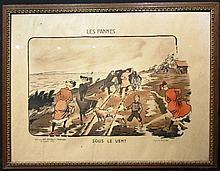 Ernest Montaut 1879-1909, « Les Pannes - Sous le vent » ; « Les Pannes - Le Déjeuner » 1903, encadrées.