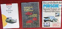 Lot Porsche, « Das grosse buch Sondertypen und konstruktionen »; « 356 technical and restoration guide »; « Porsche Owner's Companion ».