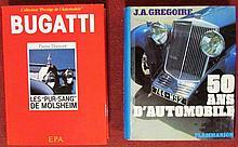 « Bugatti, les « pur-sang » de Molsheim » par Pierre Dumont ; « 50 ans d'automobile » par JA Grégoire.
