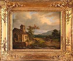 Charles Claude DELAYE (1793-1848) - Le départ en