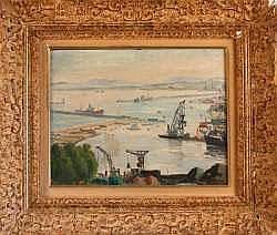 Jean-Eugène BERSIER (1895-1978) - Le port de