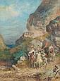 Georges WASHINGTON (1827-1910) Cavaliers arabes descendant de la montagne Aquarelle gouachée 57 x 42,5 cm Signé en bas à gauche « G.Washington» Quelques rousseurs Expert : Cabinet De Bayser Watercolor and gouache Signed lower left 22 2/5 x 16 7/10