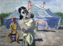 Maurice Georges PONCELET (1897-1978) - Les gens du cirque, 1942