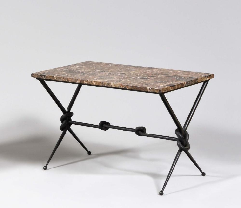 Travail Des Annees 1960 Table Basse A Plateau Rectangulaire