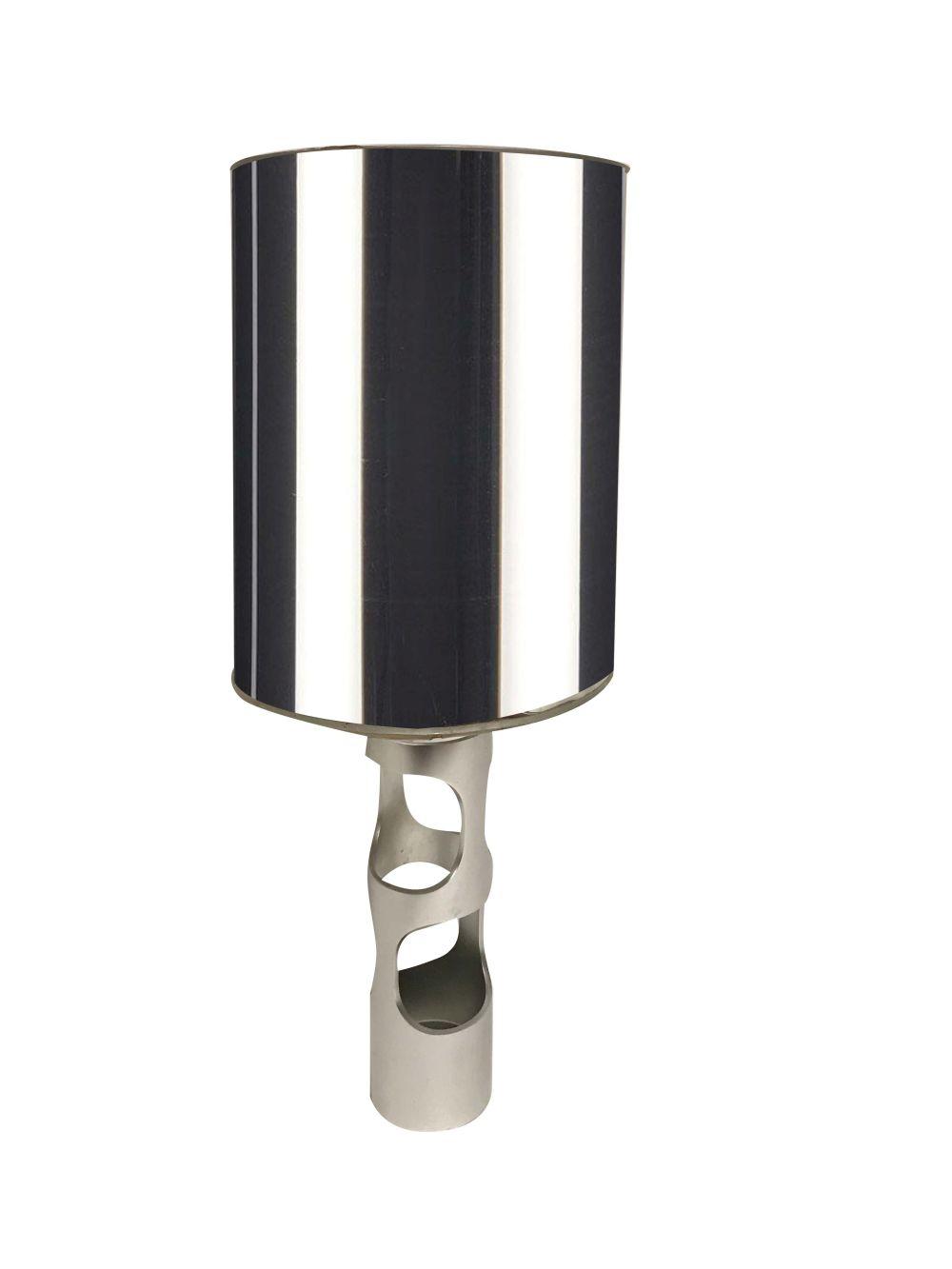 Travail Des Annees 1970 Pied De Lampe Cylindrique Evide En F