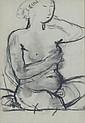 Paul DELVAUX (1897-1994) Nu féminin et Portrait de la fille de l'artiste Dessins à la mine de plomb double face, non signés Le verso portant un cachet ne provenant pas de l'artiste indiquant