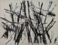 Jacques GERMAIN (1915-2001) Composition Encre de chine sur papier Monogrammé en bas à droite et daté 53 60x48 cm (à vue)