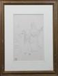 Georges LACOMBE (1868-1916) Réception mondaine Dessin à la plume et crayon Cachet en bas à gauche 30x18,5cm.