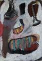 Angie ANAKIS (né en 1955) Sans titre Huile sur carton Signé en bas à gauche 28 x 20 cm (à vue)