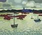 CHARON (né en 1927) Bord de mer en Bretagne Huile sur toile Signé en haut à droite 54 x 65 cm
