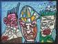 Robert COMBAS (né en 1957) Sans Titre Acrylique sur papier collé sur toile Signé sur le côté droit 50 x 64,5 cm Provenance : - Galerie Rive Gauche, Paris - Collection Particulière, Paris
