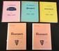 Lot comprenant : « La production de PEUGEOT de 1889 à 1968 » en 3 volumes et « L ROSENGART » par Jeanson, avec dédicace, en 2 tomes.