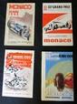 Lot comprenant les programmes du Grand Prix de Monaco 1948 ; 1962 ; 1964 et du Kart Club de Monaco 1962.