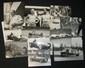 Lot comprenant 10 photographies de voitures de course et de pilotes (Ascari, Fangio, Taruffi, Hawthorn, Moss, ..) de la période 1950-1955, par le photographe Farabola à Milan et une photographie par Publiphoto-Milano.