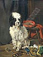 Joseph STEVENS (Bruxelles 1819 - 1892) - Caniche