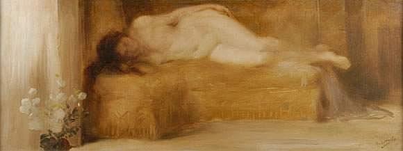 Henri LEROLLE (Paris 1848 - 1929) - Odalisque 8 /