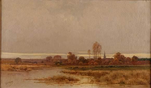 Alfred GODCHAUX ( ? 1835 - ? 1895) - Le marais 3 /